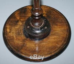 Lovely Vintage Mahogany Tripod Lamp Side End Wine Table Ornately Turned Column