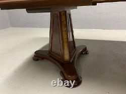 Magnificent 12ft CMC pedestal Grand Regency style Brazilian mahogany table Set