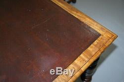 Mahogany Victorian 2 Drawer Library Refectory Dining Table Leather 8 12 Person