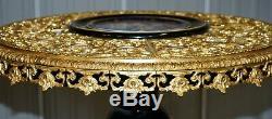 Napoleon III Louis XVI Style Gilt Bronze & Porcelain Plaque Sevres Centre Table