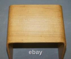 Nest Of Three Vintage Bentwood Nesting Side End Lamp Wine Tables Very Stylish