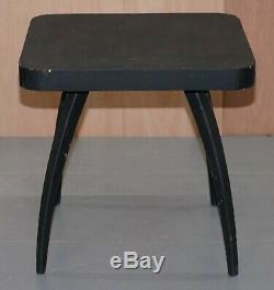 Nice 1930's Ebonised Black Spider Table By J. Halabala Vintage Distressed Patina
