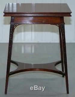 Original Rare Gillows Lancaster Circa 1789-95 Mahogany Fold Over Game Card Table