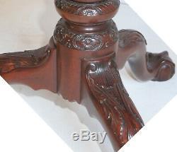 Pair Kindel Winterthur Philadelphia Tea Table Tilt Top Mahogany Pie Crust Cage