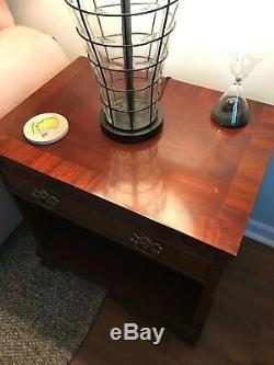 Pair Of Baker Furniture Mahogany Chippendale End Tables