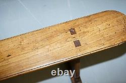 Pair Of Circa 1800 French Provincial Fruitwood 2 Meter Refectory Table Benches