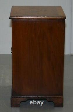 Pair Of Lovely Burr Walnut Circa 1940 Side Table Cupboard Bedside Table Drawers
