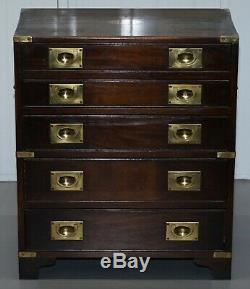 Pair Of Mahogany Military Campaign Bevan Funnell Side Table Chest Of Drawers