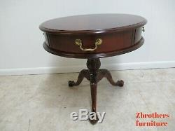 Pennsylvania House Cherry Chippendale Drum End Table Ball Claw