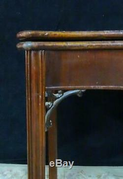 Period 18th Century Chippendale Mahogany Mass or RI Games Table- Serpentine top