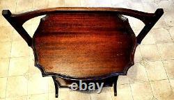 RARE Antique Ferguson Bros. 2 Tier Folding Mahogony Butlers End Table 1901 -1910