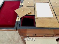 RARE Baker Furniture Company Historic Charleston Mahogany Dressing Table w Bench