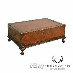Ralph Lauren Leather Wrapped Dalton Cocktail Coffee Table (A)