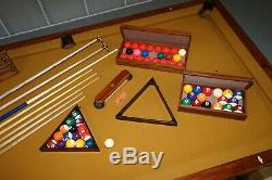 Rare Charles X Circa 1800 Rosewood Marquetry Inlaid Pool Snooker Billiards Table