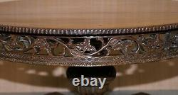 Rare Circa 1880 Anglo Indian Hand Carved Centre Coffee Occasional Table Burmese