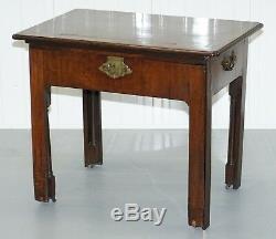 Rare Georgian Irish Mahogany Circa 1760 George III Architects Writing Desk Table
