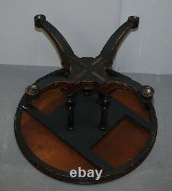 Rare Gillow & Co 1852-1857 Aesthetic Movement Burr Walnut Ebonised Dining Table