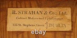 Rare Pair Of R. Strahan & Co Dublin Irish Regency Mahogany Fold Over Card Tables