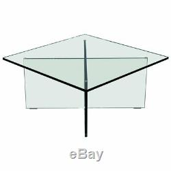 Rare Ralph Lauren Speciality Madison Ave New York Glass Cocktail Coffee Table