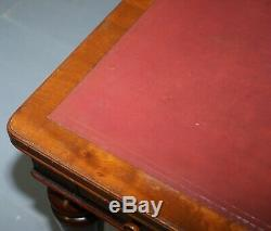 Rare Victorian Holland And Sons Double Sided Mahogany Partner Desk Writing Table