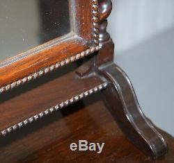 Regency 1815 Table Top Cheval Mirror Original Plate Glass Glass Barley Twist