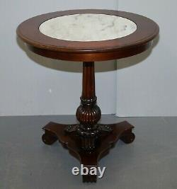 Rrp £12,000 Pair Of Ralph Lauren American Mahogany Marble Topped Side End Tables