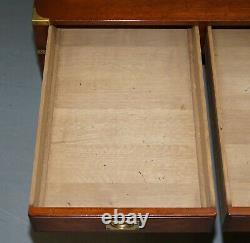 Rrp £3799 Mahogany Harrods London Kennedy Military Campaign Coffee Table Drawers