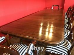 STUNNING 15ft GRAND ANTIQUE FRENCH SOILD WALNUT TABLE TO BE PRO FRENCH POLISHED