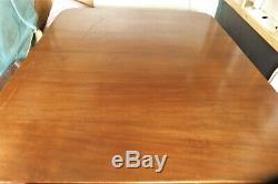 SUPERB QUALITY CHIPPENDALE ANTIQUE c19th DINING TABLE with 3 LEAVES MAHOGANY