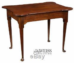 SWC-Mahogany Porringer Tea Table Newport, 1735-1750