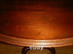 Saybolt Cleland Mahogany Tea Table Philadelphia Round Table lamp stand