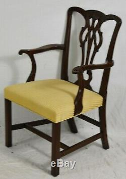 Set of 8 Mahogany Chippendale Style Dining Chairs Attr. To Kittinger