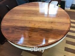 Stunning Art Deco Mahogany & Cream Circular Grand dining table. French polished