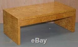 Stunning Burr Satinwood Two Drawer Coffee Table Stunning Patina Part Of A Suite