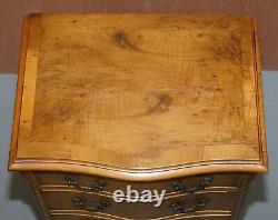 Stunning Burr Walnut Chest Of Drawers Or Lovely Lamp End Wine Bedside Table
