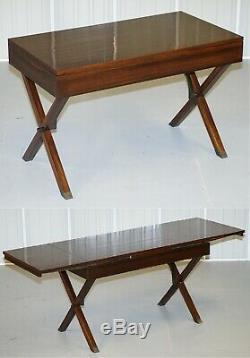 Stunning Restored Rosewood Extending Writing Table Desk Lovely Vintage Feel