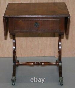 Stunning Small Crackled Mahogany Side Table With Extending Top Great Games Table