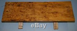 Super Rare Victorian One Plank Top Epic Burr Burl Elm Refectory Dining Table