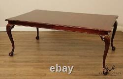 Thomasville Chippendale Style Mahogany Ball & Claw Dining Table