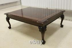 Thomasville Flame Mahogany Top Ball & Claw Coffee Table
