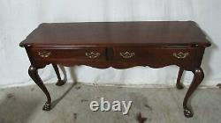 Thomasville Sofa Console Table Chippendale Mahogany Claw Feet