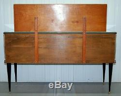 UMBERTO MASCAGNI 1950s CREDENZA SIDEBOARD WITH MIRROR DINING TABLE/CHAIR AVAILAB
