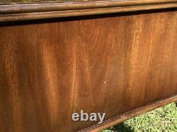 VINTAGE LANE CHINESE CHIPPENDALE INLAID MAHOGANY END/SIDE TABLE WithDRAWER