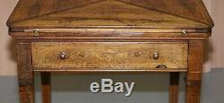 Victorian Mahogany Games Envelope Rosewood Table Circa 1880 Unfolds Extends