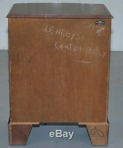 Vintage 1960's Burton Furniture Ltd Flamed Mahogany Side Table Chest Of Drawers