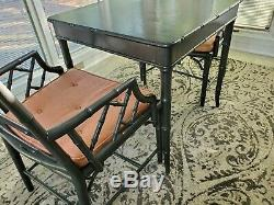 Vintage 2 Chinese Chippendale Chairs With Matching Table