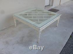 Vintage 70's Palm Beach Kelly Wearstler Style Chinese Chippendale Coffee Table