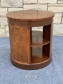 Vintage Baker Furniture Mahogany Drum Book Case End Table 24
