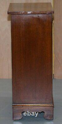 Vintage Bevan Funnell Flamed Mahogany Side Table Cabinet Bookcase Single Drawer