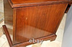 Vintage Cherry Drexel Silver Chest, Nightstand End Table model 184 667 1